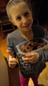 Laurence Mathieu, 6 ans